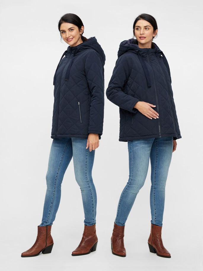 QUILTED 2-IN-1 MATERNITY JACKET, Salute, large