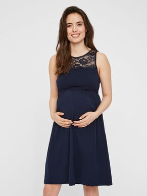 bbc8429a37 LACE DETAILED MATERNITY DRESS
