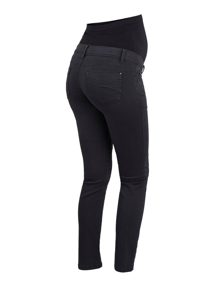 SLIM FIT MATERNITY JEANS, Black, large