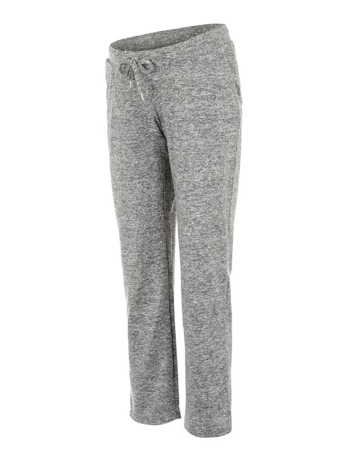 MLJANNI MATERNITY TROUSERS, Light Grey Melange, large