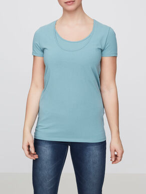 MIX NURSING TOP, SHORT SLEEVED