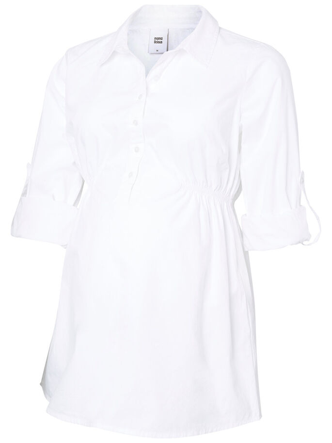 GEWEVEN ZWANGERSCHAPSBLOUSE, Bright White, large