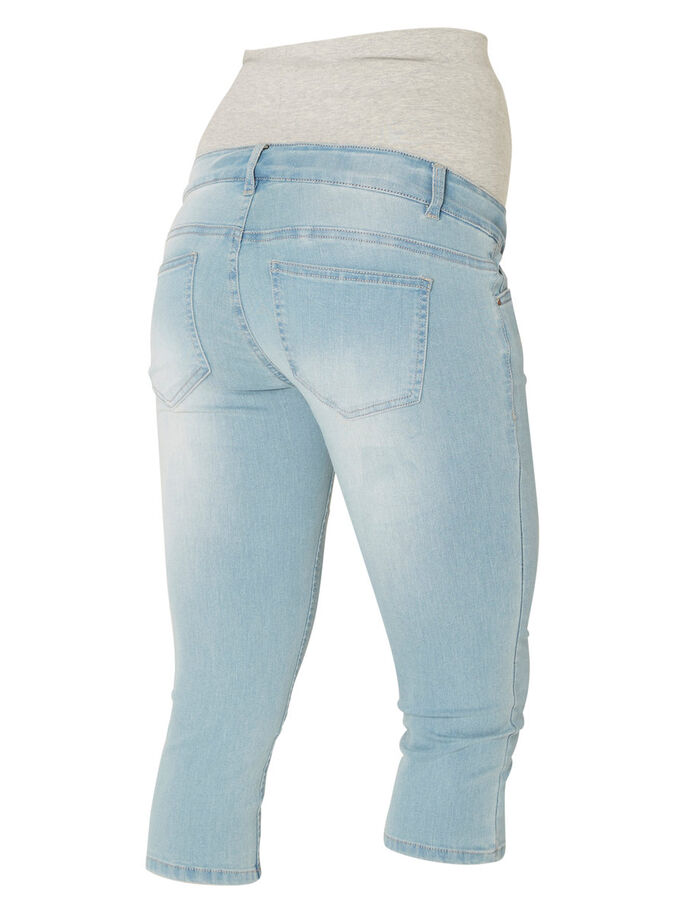 DENIM- CAPRIHOSE, Light Blue Denim, large