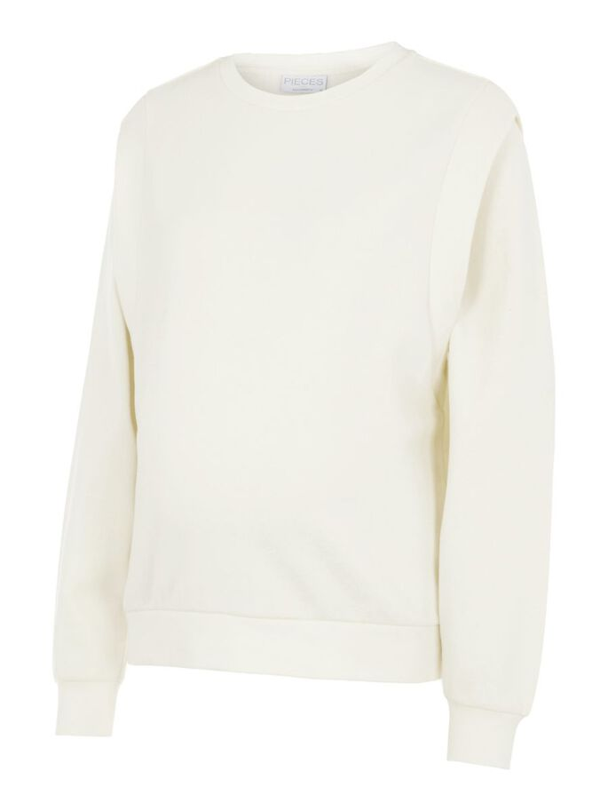 PCMTVIGGA UMSTANDS-SWEATSHIRT, Birch, large