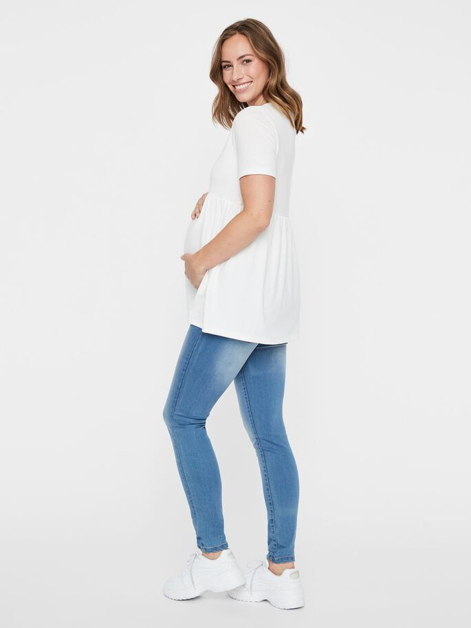 PEPLUM MATERNITY T-SHIRT, Snow White, large