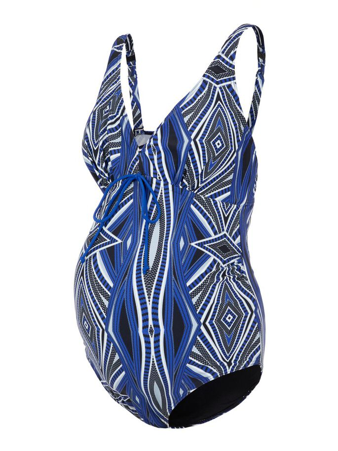 GRAPHIC PRINTED MATERNITY SWIMSUIT, Black, large
