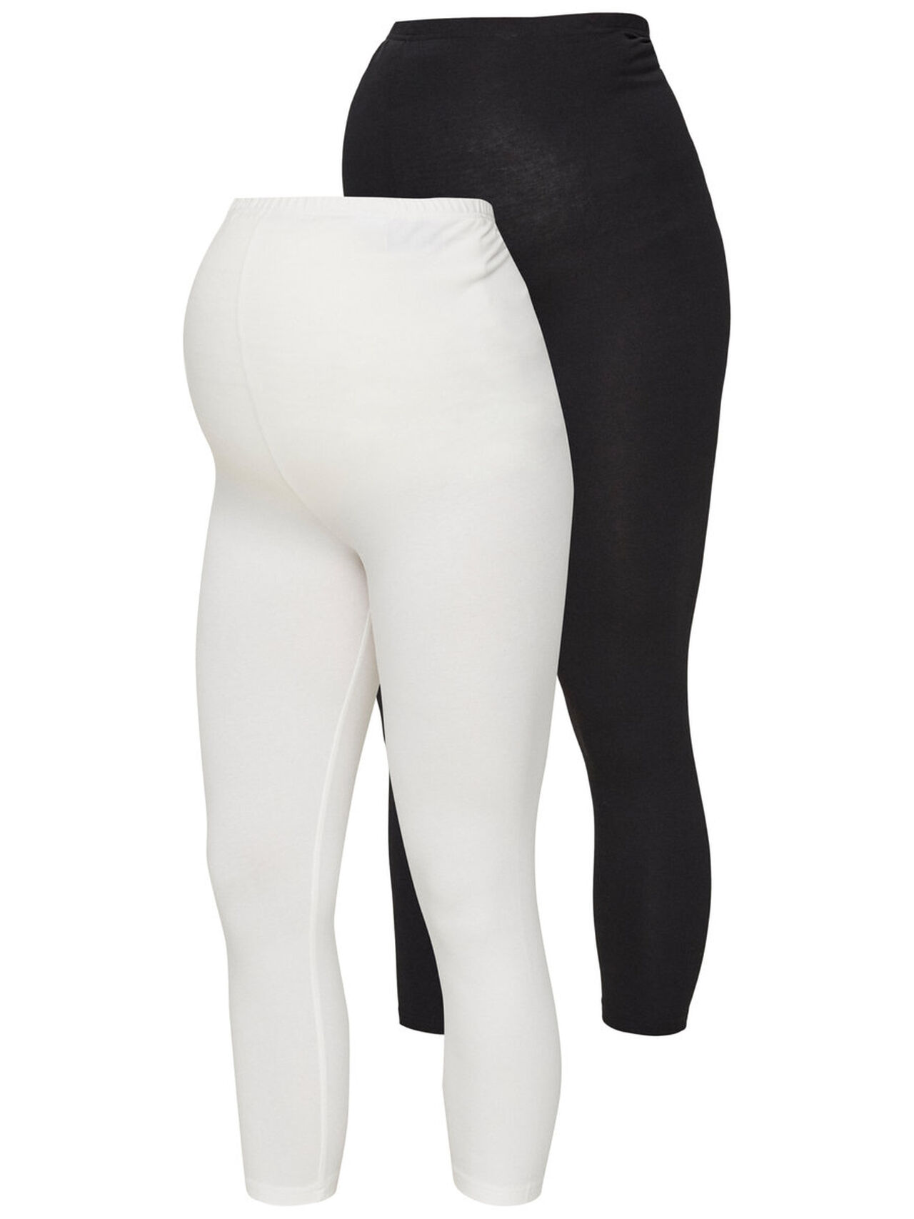 MAMA.LICIOUS 2-pack Jersey Maternity Leggings Women White