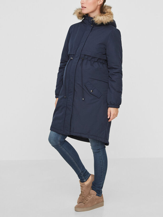 PADDED MATERNITY COAT, Navy Blazer, large
