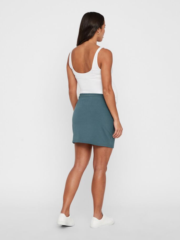 SOLID JERSEY MATERNITY MINI SKIRT, Orion Blue, large