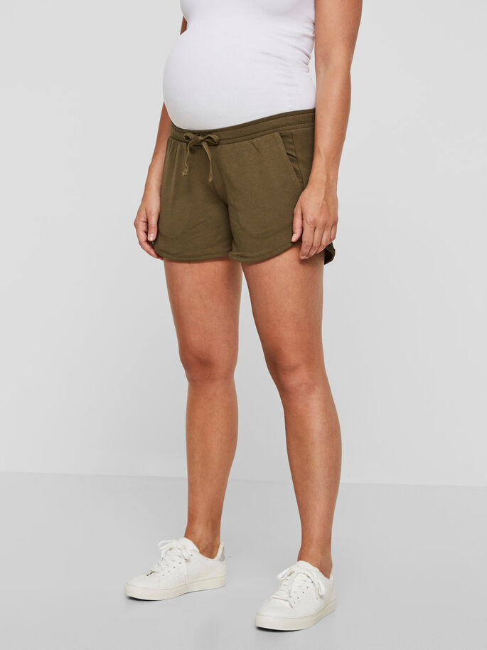 JERSEY SHORT GROSSESSE, Ivy Green, large