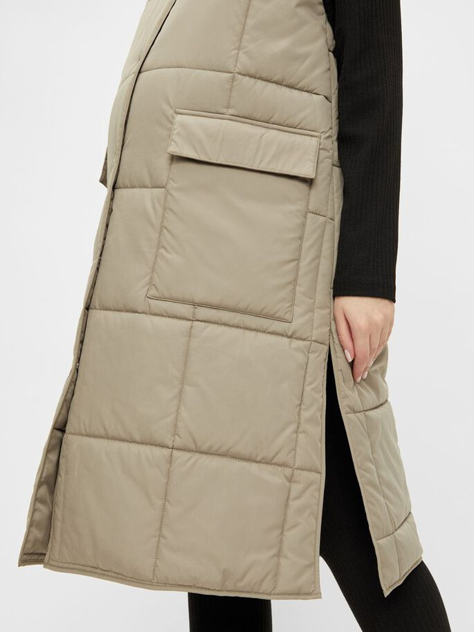 PCMBARBARA QUILTED MATERNITY VEST, Seneca Rock, large
