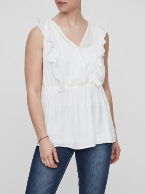 FRILL DETAILED NURSING TOP, SLEEVELESS