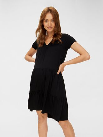 SHORT SLEEVED MATERNITY MINI DRESS