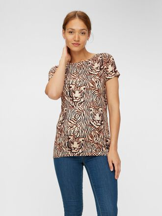PRINTED SHORT SLEEVE MATERNITY TOP