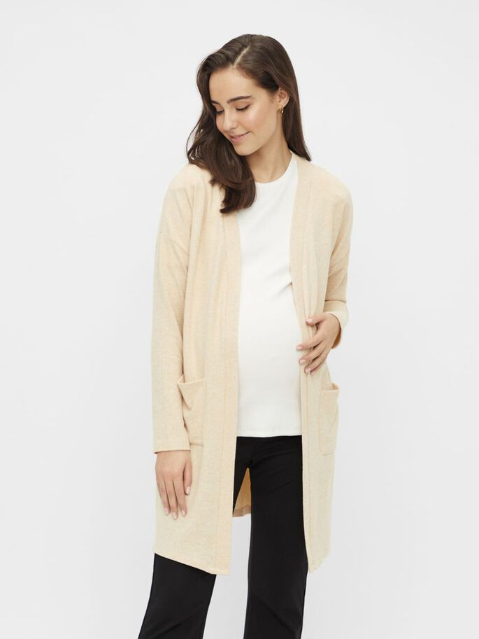 MLJULIETTE MATERNITY CARDIGAN, Almond Oil, large