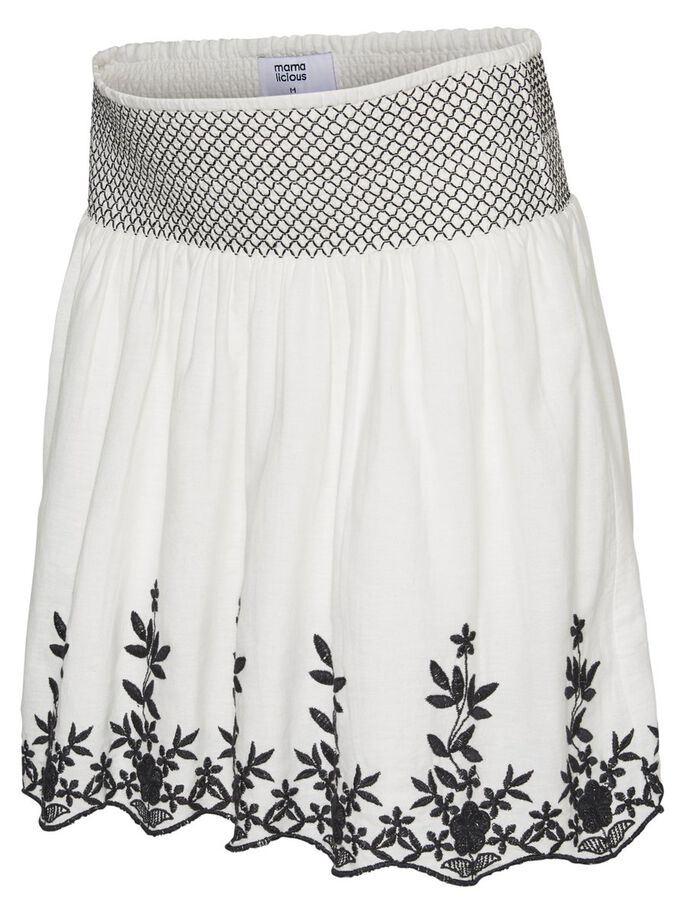 9873b36d67c09 Embroidered maternity skirt | MAMALICIOUS