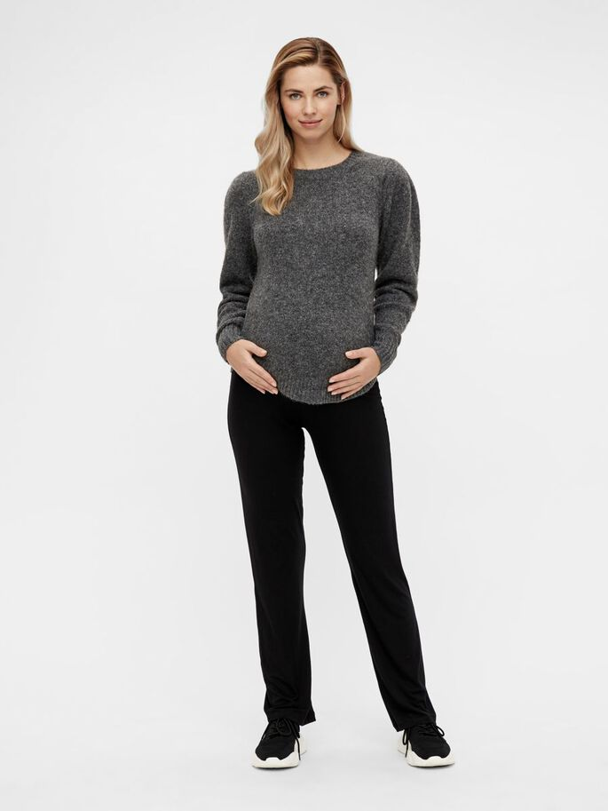 MLSAVANNAH KNIT MATERNITY JUMPER, Dark Grey Melange, large