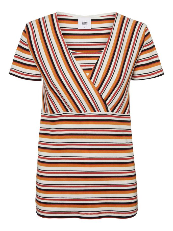 0f5fa717021 Striped nursing top | MAMALICIOUS