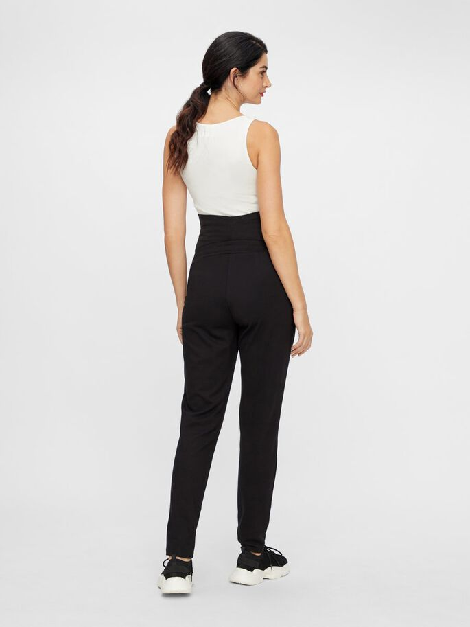 COUPE AMPLE PANTALON GROSSESSE, Black, large