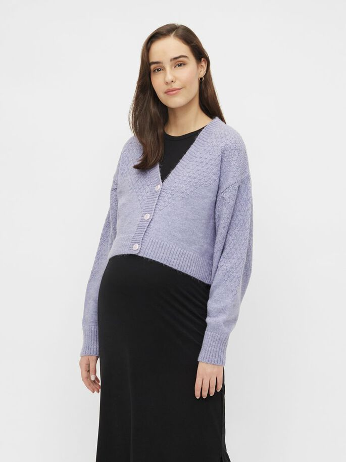 MLABRIAL MATERNITY CARDIGAN, Dahlia Purple, large