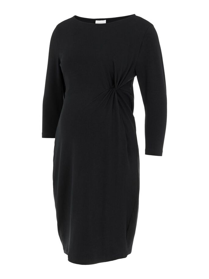 MLSIA 3/4 SLEEVED MATERNITY DRESS, Black, large