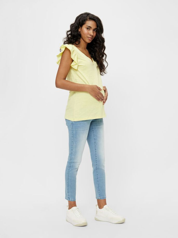 MLIBI MATERNITY TOP, Elfin Yellow, large