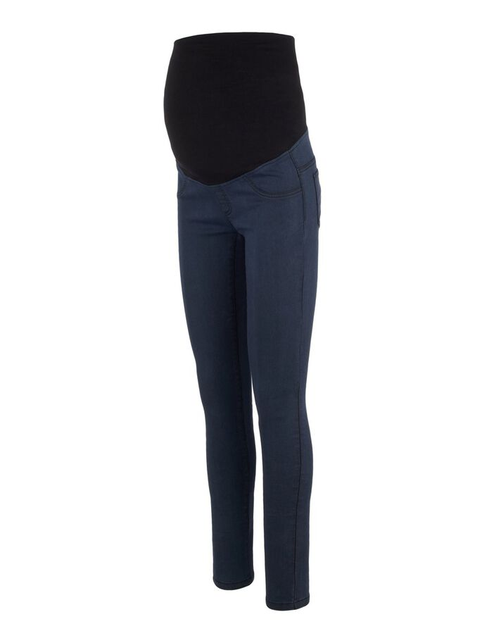 COUPE SLIM JEGGINGS DE GROSSESSE, Dark Blue Denim, large