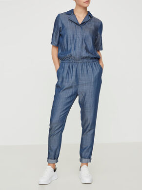 DENIM NURSING JUMPSUIT