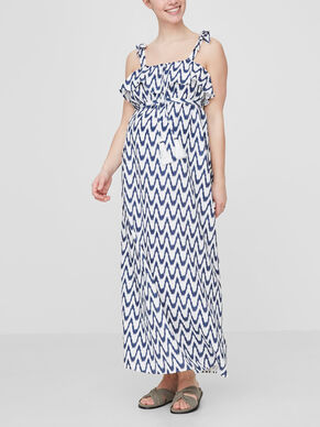 PRINTED MATERNITY DRESS, LONG