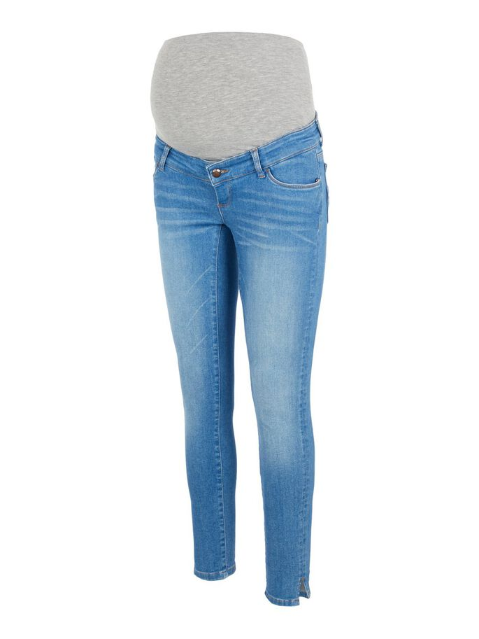 DENIM SLIM FIT MATERNITY JEANS, Light Blue Denim, large