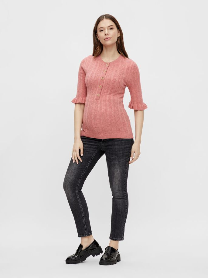 MLHEALY KNIT 2-IN-1 MATERNITY TOP, Holly Berry, large