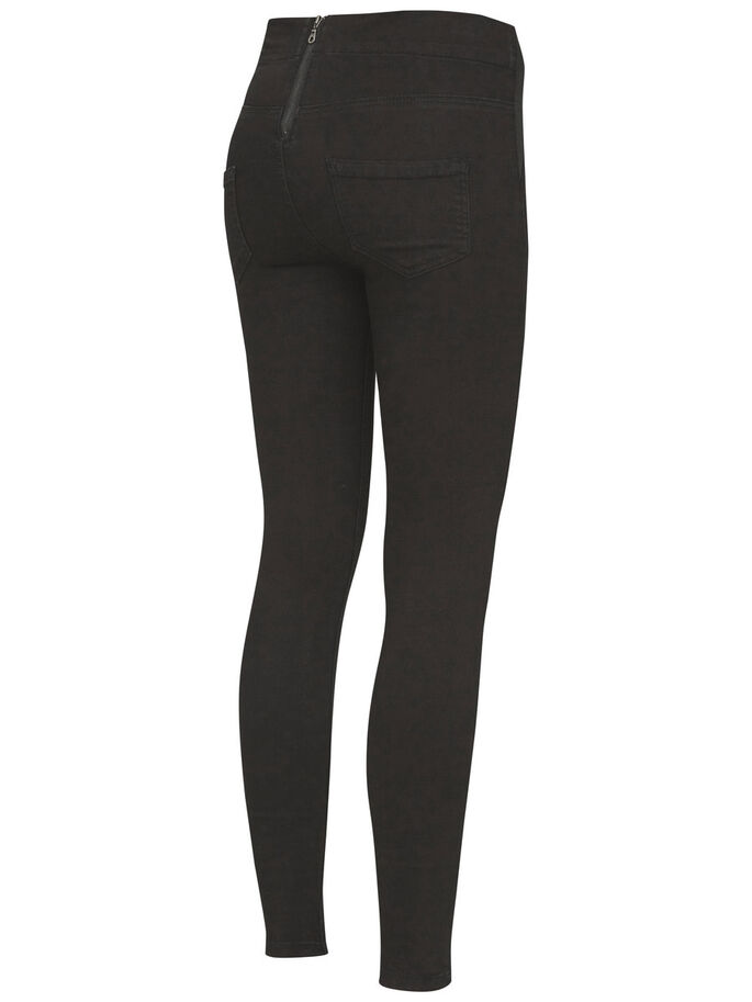 SKINNY FIT JEGGINGS, Black Denim, large