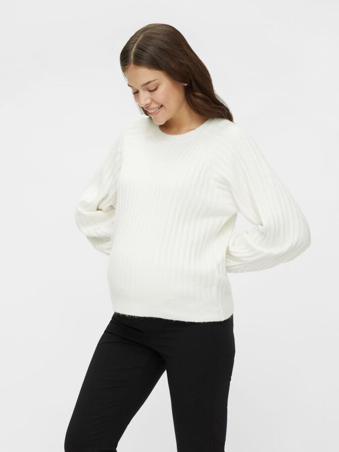 PCMPOLLY MATERNITY PULLOVER, Bright White, large