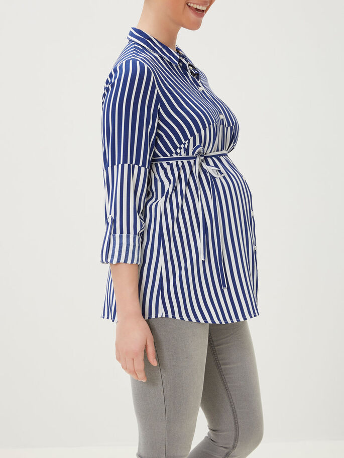 WOVEN MATERNITY SHIRT, Snow White, large