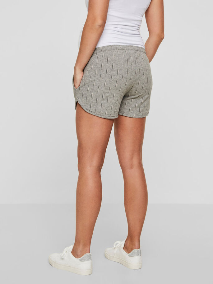 JERSEY MATERNITY SHORTS, Light Grey Melange, large