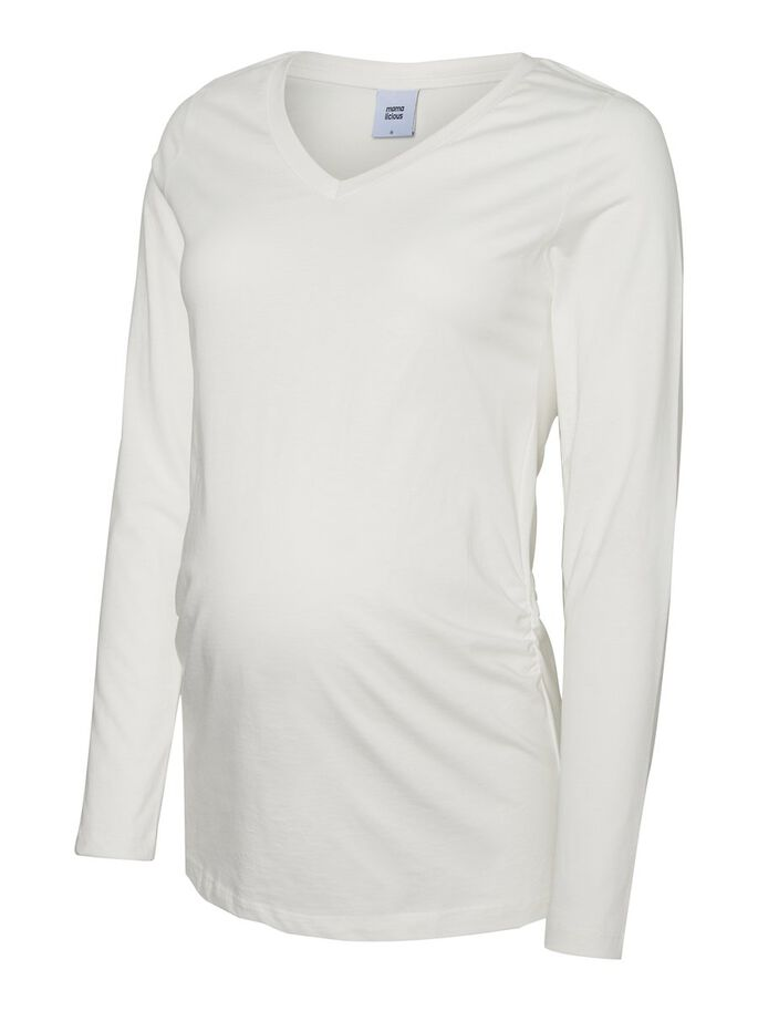 2-PACK LONG SLEEVED MATERNITY TOP, Snow White, large