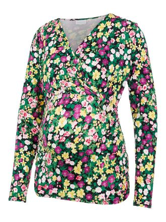 FLORAL JERSEY 2-IN-1 MATERNITY TOP
