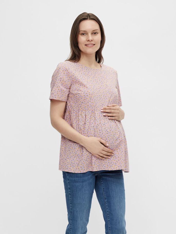 PCMTRINE MATERNITY TOP, Sheer Lilac, large