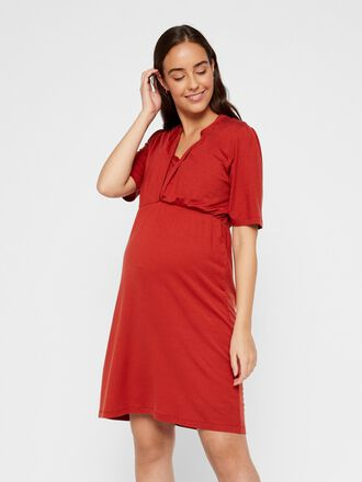 LACE DETAIL 2-IN-1 MATERNITY DRESS