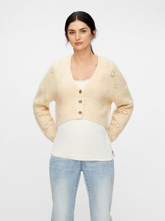 CROPPED KNITTED MATERNITY CARDIGAN