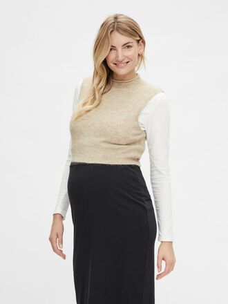 PCMFANNA KNITTED MATERNITY CROP TOP