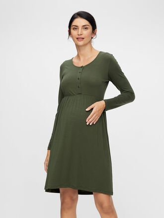 BUTTON DETAILED 2-IN-1 MATERNITY DRESS