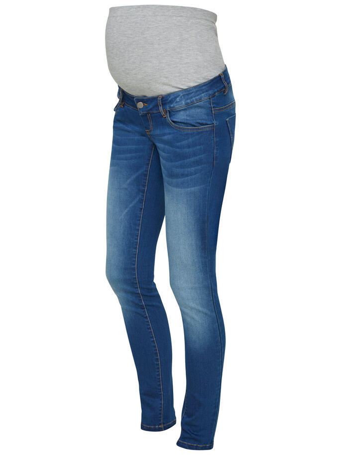 SLIM FIT MATERNITY JEANS, Medium Blue Denim, large