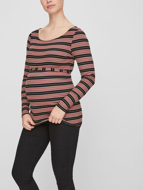STRIPED MATERNITY TOP, LONG SLEEVED