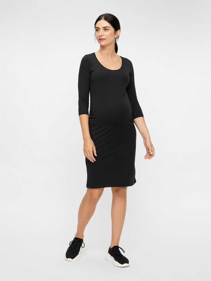 MLLEA MANCHES 3/4 ROBE GROSSESSE, Black, large