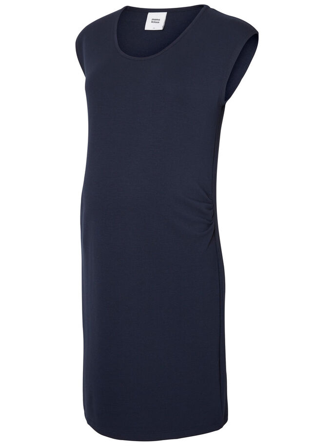 SWEAT MATERNITY DRESS, Navy Blazer, large