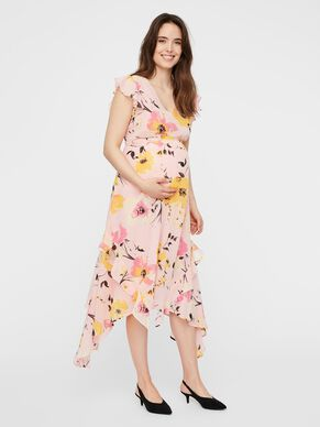 07f58085caf FLORAL PRINTED MATERNITY DRESS