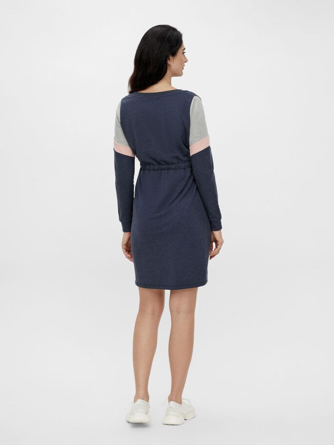 COLOUR BLOCK MATERNITY DRESS, Navy Blazer, large