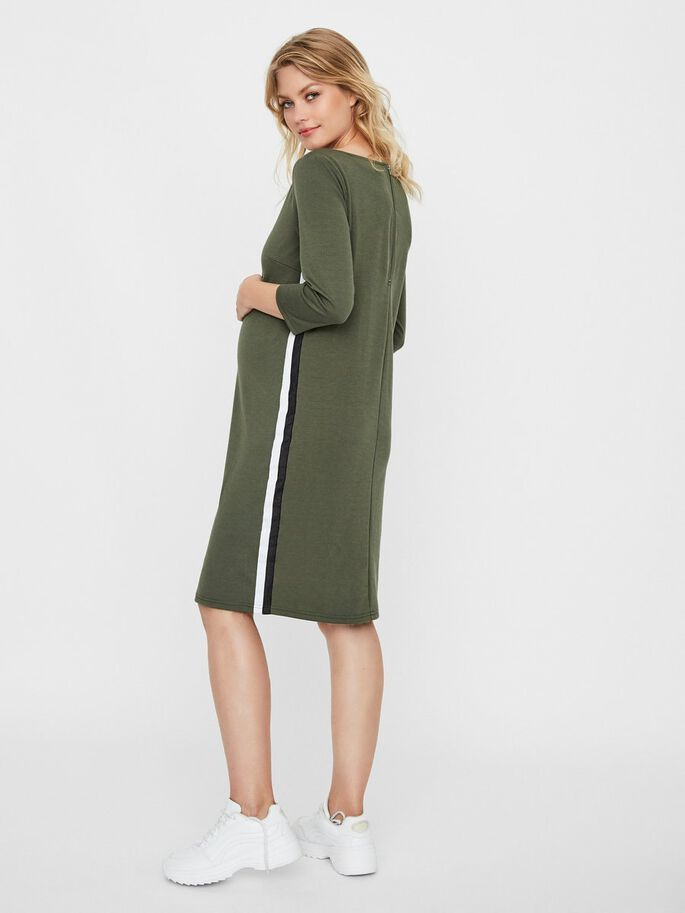 STRIPE DETAILED MATERNITY DRESS, Thyme, large