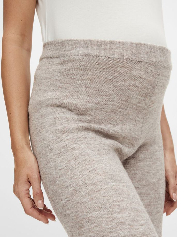 PCMCINDY MATERNITY TROUSERS, Silver Mink, large